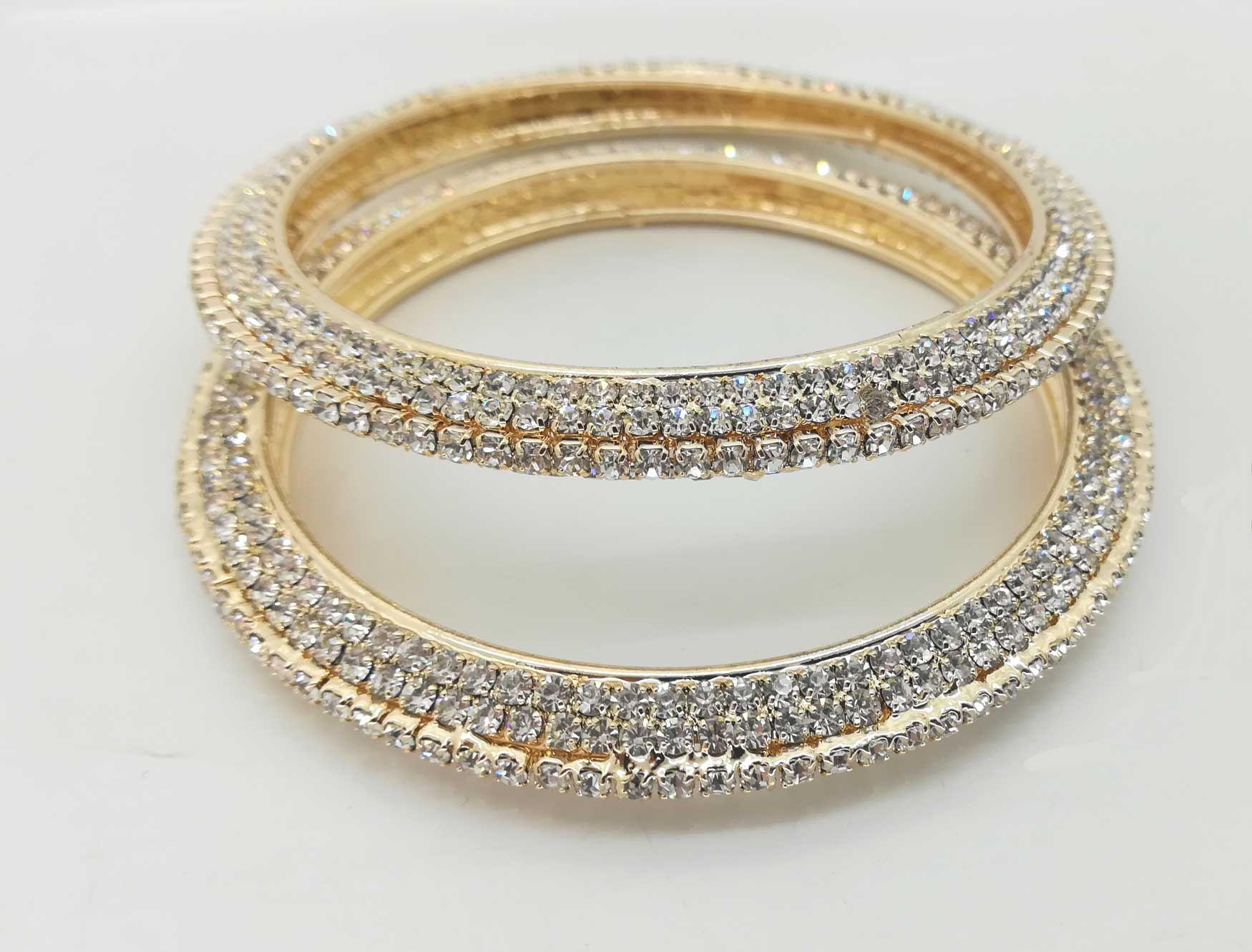 Gorgeous rose gold diamante bangles