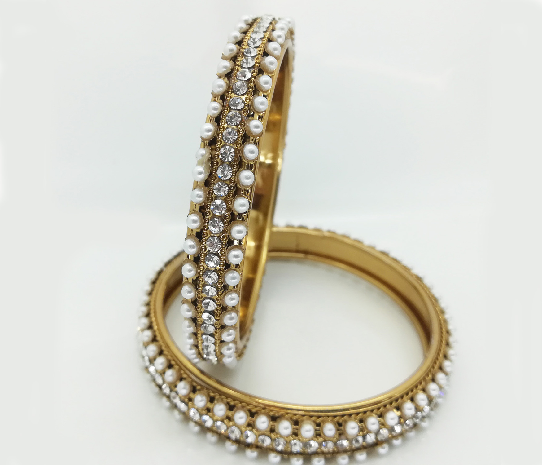 Beautiful bangles in pearl & white