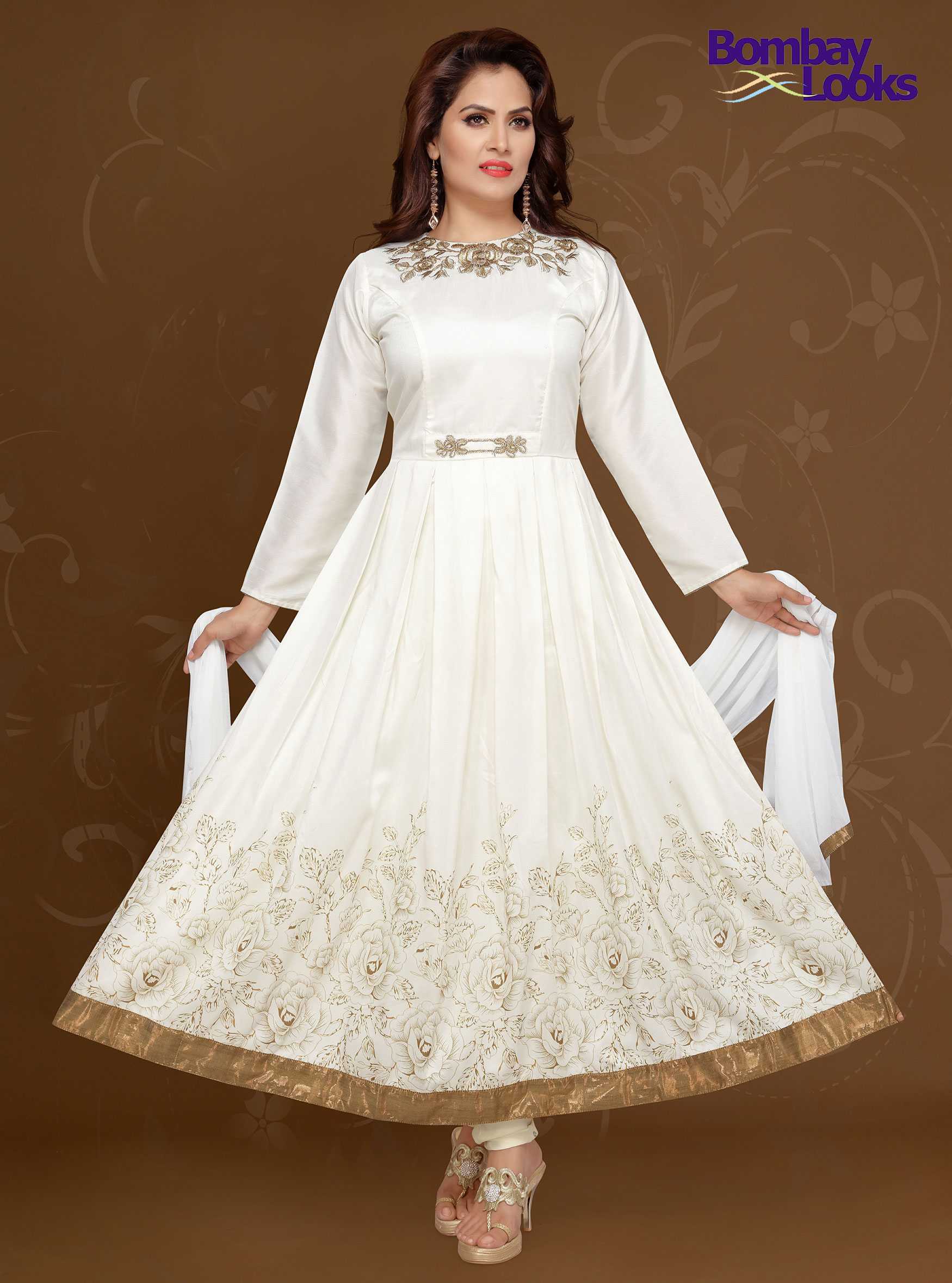 Classic Anarkali  suit with elegant embroidery