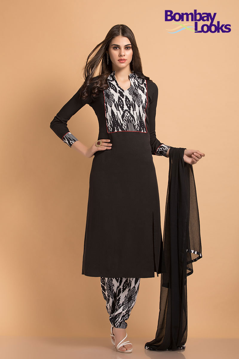 Stunning rayon printed suit with printed trousers and printed bodice