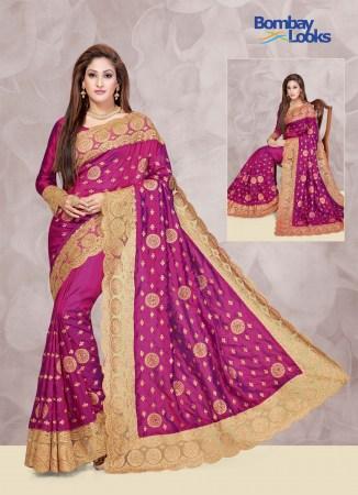 d5970b4089416e Magenta Soft Silk Saree with Gorgeous Heavy net Border