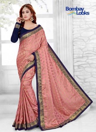b924196a1bbabe Gajri saree in Jacquard butti with contrast blouse